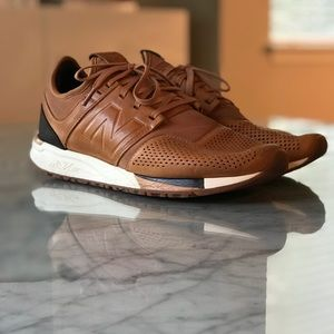 new balance 247 luxe homme brown